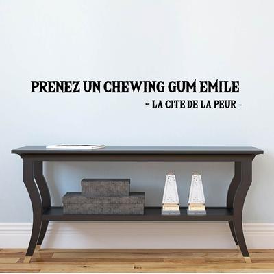 Stickers la cité de la peur chewing gum émile