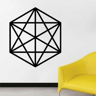 Stickers Geometrique Octahedron