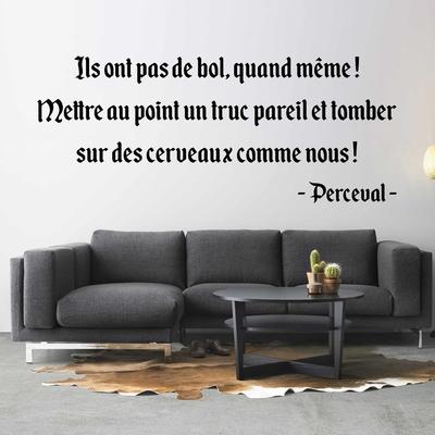 Stickers Citation Kaamelott Perceval Cerveaux