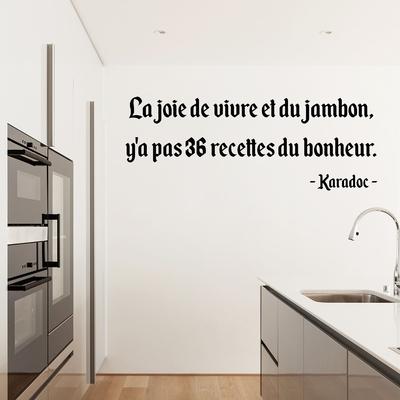 Stickers Citation Kaamelott Karadoc recettes du bonheur