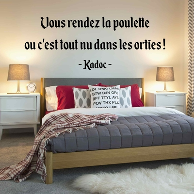 Stickers Citation Kaamelott Kadoc poulette