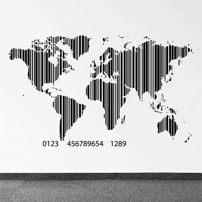 Carte Du Monde Origami.Stickers Carte Du Monde Autocollant Et Stickers Muraux