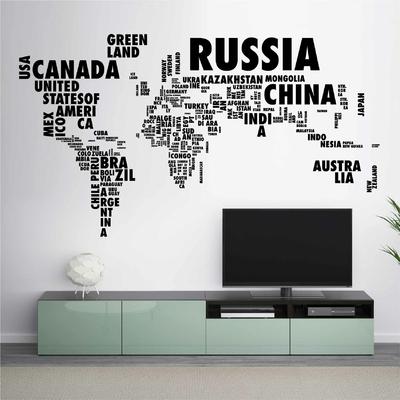 Stickers Carte du Monde Pays
