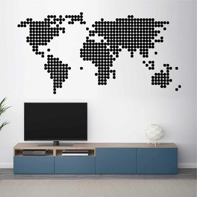 Stickers Carte du Monde ronds