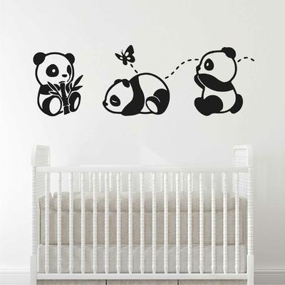 Stickers Panda Autocollant Muraux Pandas Et Deco Animaux