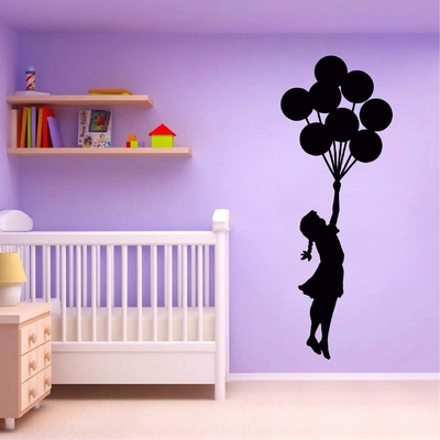 Stickers Fille Ballons