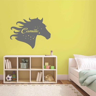 Stickers Cheval Nom Personnalisable