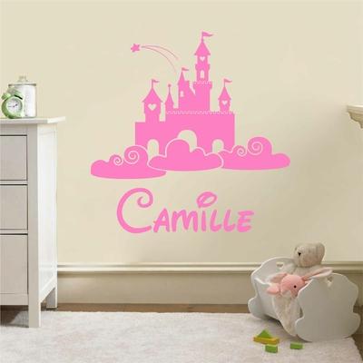 Stickers Prenom Personnalisé chateau princesse