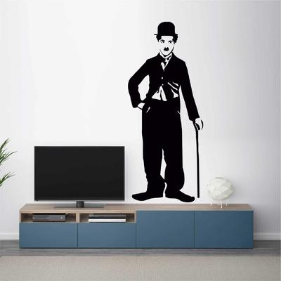 Stickers Charlie Chaplin canne