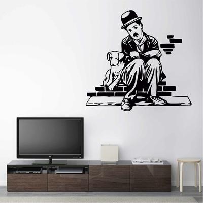Stickers Charlie Chaplin Chien