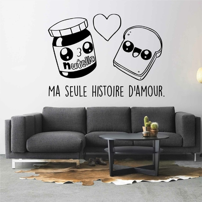 Stickers Kawaii Histoire d'amour Nutella