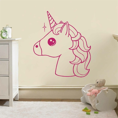 Stickers Kawaii Licorne