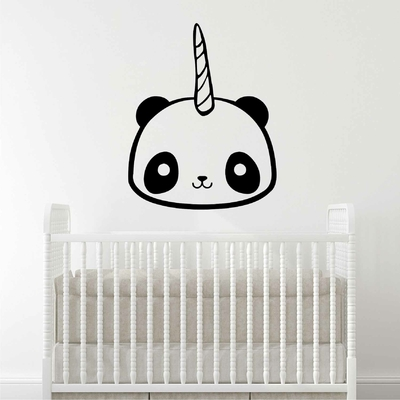 Stickers Kawaii Panda Licorne