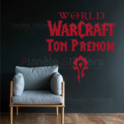 Stickers WoW Horde prenom Personnalisé