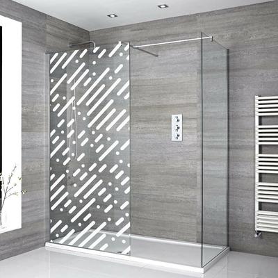 Stickers Porte de douche depoli abstrait
