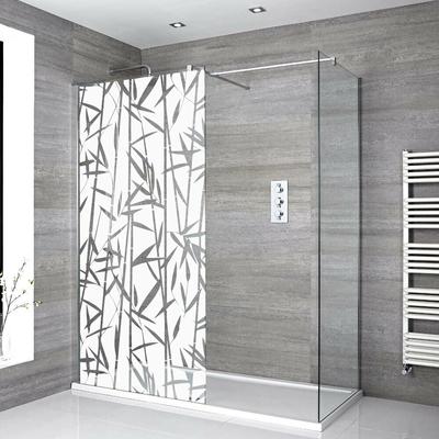 Stickers Porte de douche depoli bambous