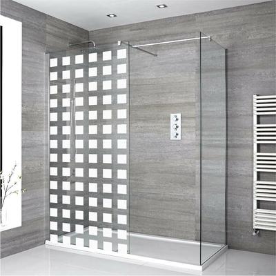 Stickers Porte de douche depoli carrés