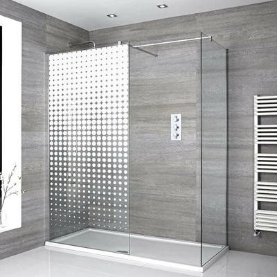 Stickers Porte de douche depoli cascade