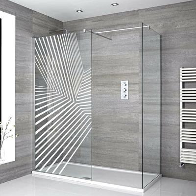 Stickers Porte de douche depoli point de fuite