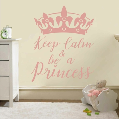 Stickers Keep Calm and be a Princess