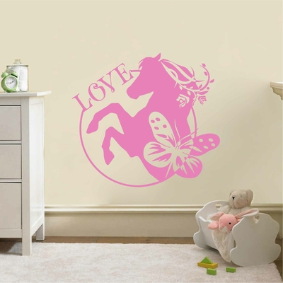 Stickers Cheval Love