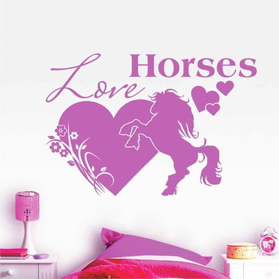 Stickers Love Horses