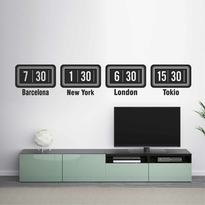 Stickers Horloges Monde