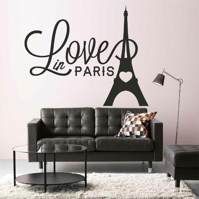 Stickers Love in Paris Eiffel Tower