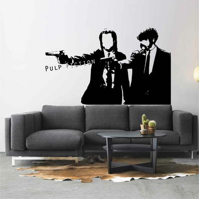 Stickers Pulp Fiction Silhouette
