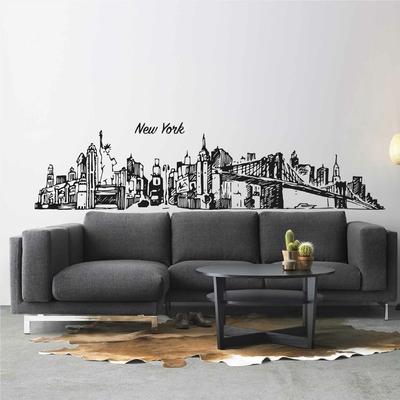 Stickers New York Skyline Dessin