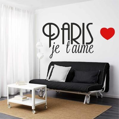 Stickers Paris je t'aime coeur