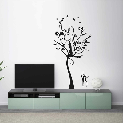Stickers Arbre Chat