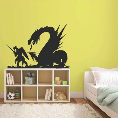Stickers Chevalier Dragon