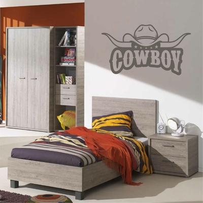 Stickers Cowboy chapeau et cornes