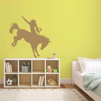 Stickers Cowboy Cheval Rodeo