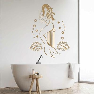 Stickers Sirène salle de bain
