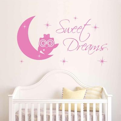Stickers Chouette chambre bébé