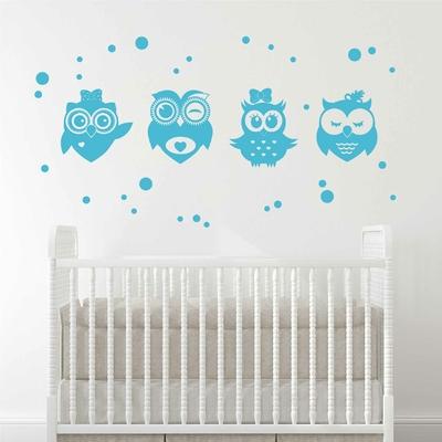 Stickers Hibou bleu