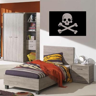 Stickers Drapeau Pirate Crane