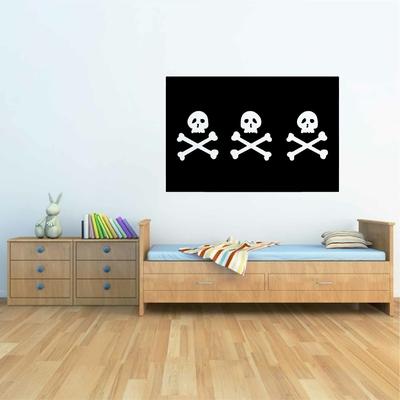 Stickers Drapeau Pirate Triple