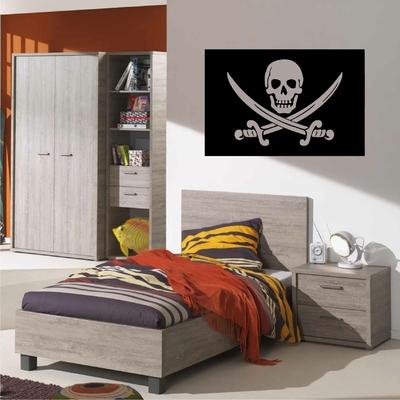 Stickers Drapeau Tete de mort Pirate