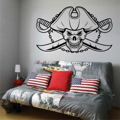 Stickers Muraux Pirate