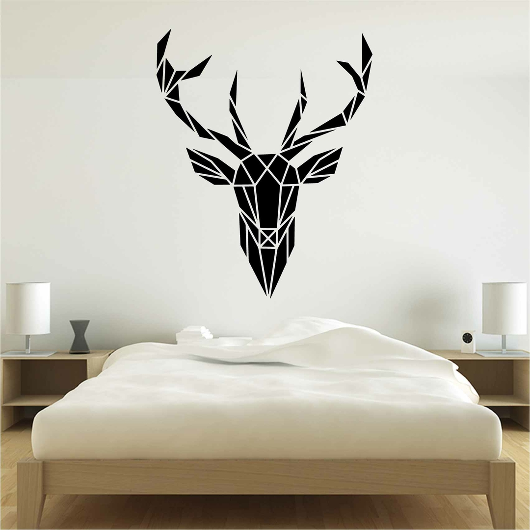 stickers origami cerf inverse autocollant muraux et deco. Black Bedroom Furniture Sets. Home Design Ideas