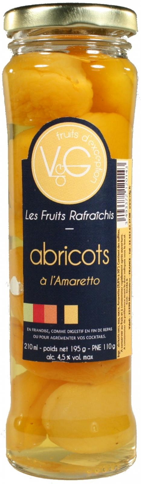 Abricots rafraîchis à l\'Amaretto 270 g