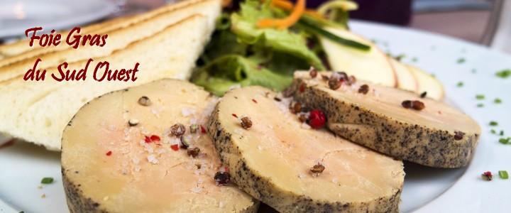 Foie gras de canard entier, bloc de foie gras, bloc de foie gras au jus de truffe.