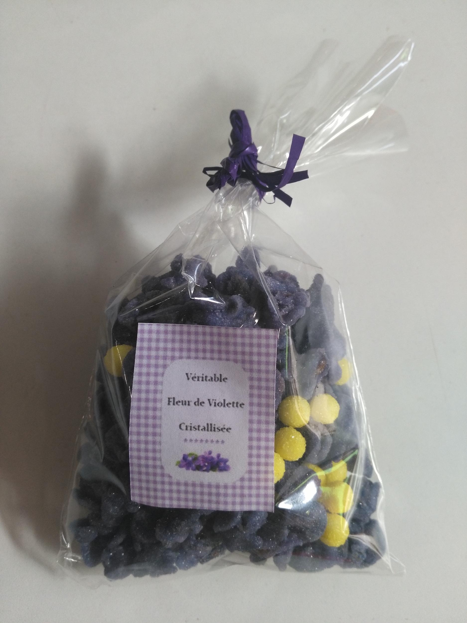 violette cristallisé et mimosa