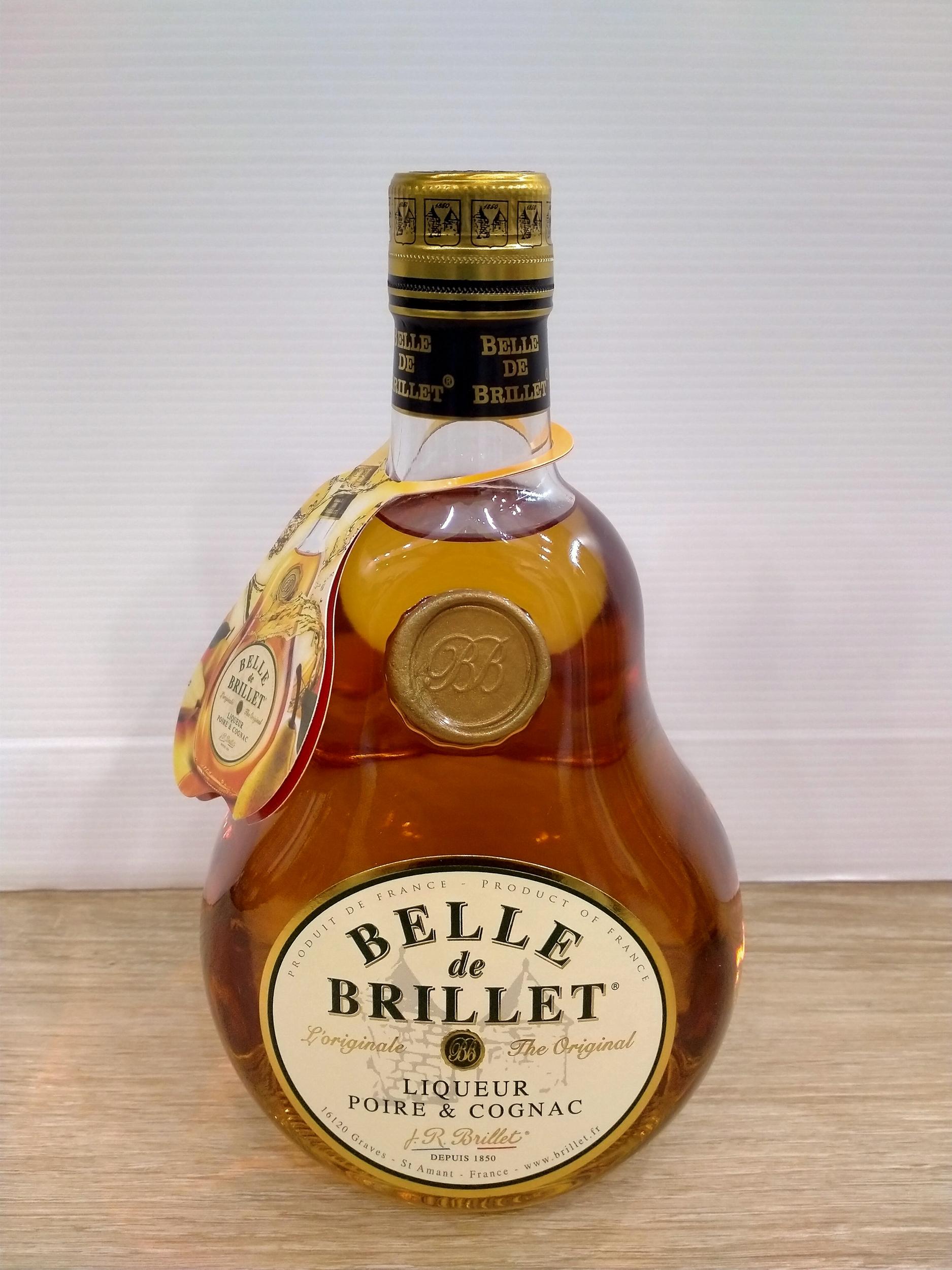 Belle de Brillet : Liqueur de Poire au Cognac 30° 70 cl -sans étui