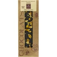 Tablette Chocolat Noir/Orange 73 % cacao