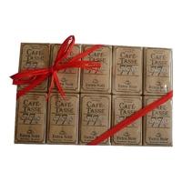 30 Mini tablettes de chocolat noir 77 % cacao