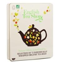 Coffret métal de 72 sachets de thés et infusions bio (9 variétés)